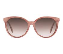Sonnenbrille aus Azetat mit rundem Rahmen