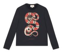 Sweatshirt aus Baumwolle mit Schlangen-Print
