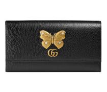 Continental Brieftasche aus Leder mit Schmetterling