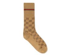 Socken aus Baumwolle mit GG und Web