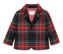 Baby Jacke aus Wolle mit Schottenkaro