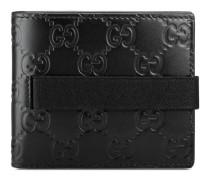 Gucci Elastic Brieftasche aus Leder Gucci Signature