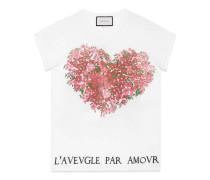 T-Shirt aus Baumwolle mit floralem Print