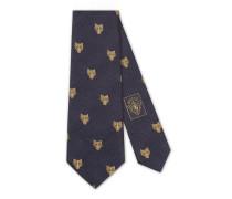 Krawatte aus Seide mit Felineköpfen