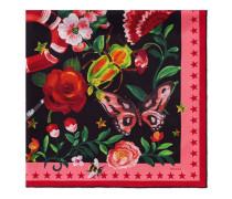 Seidenschal mit Gucci Garden-Print