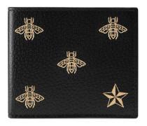 Bee Star Faltbrieftasche aus Leder