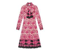 Kleid aus Seide mit Porzellanblumen-Print