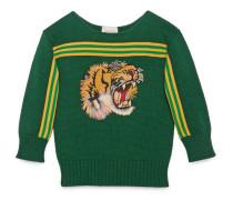Kinder Pullover mit Tiger-Patch