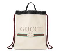Kleiner Rucksack mit Zugband mit Gucci Print