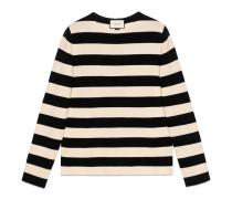 Pullover aus gestreifter Baumwolle mit rundem Ausschnitt