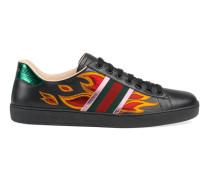 Low-Top Sneaker Ace mit Flammen