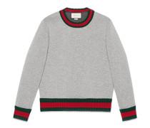 Sweatshirt aus Baumwolle mit Webstreifen