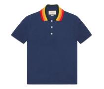 Poloshirt aus Baumwolle mit Wolf-Applikation
