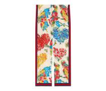 Pyjamahose aus Seide mit Korsage-Print