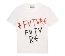T-Shirt aus Baumwolle mit Future-Print