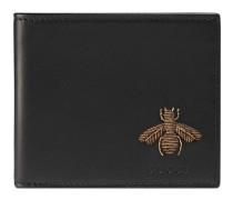 Faltbrieftasche mit Bienen-Stickerei