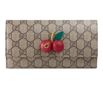 Lange Brieftasche aus GG Supreme mit Kirschen
