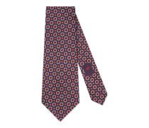 Breite Krawatte aus Seide mit geometrischem Muster