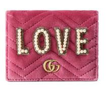 GG Marmont Brieftasche aus Samt mit Stickerei