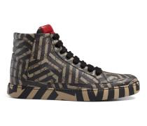 Hoher Sneaker mit GG Caleido-Druck