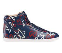 High-Top Damen-Sneaker mit GucciGhost Print