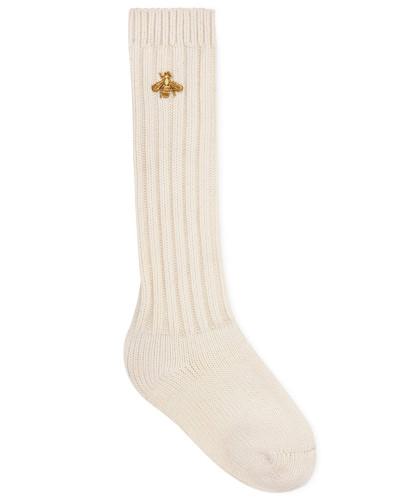 Socken aus Stretchwolle mit Biene