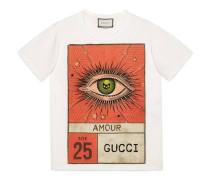 "T-Shirt mit ""Amour""-Augen-Print"