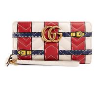 Brieftasche mit Rundumreißverschluss GG Marmont mit Trompe-L'oeil-Print