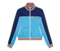Jacke aus technischem Jersey mit Reißverschluss und Web