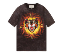T-Shirt aus Baumwolle mit Stickerei
