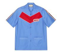 Bowling-Shirt mit Gucci Patch