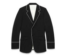 Jacke aus Stretch-Twill im Stil der 70er mit Paspelierung