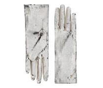 Handschuhe mit Pailletten-Stickereien