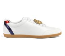 Sneaker aus Leder mit GG