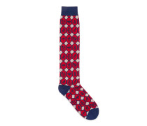Socken aus Baumwolle mit geometrischem Tiermotiv