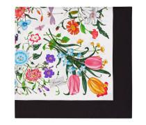 Seidenschal mit Blumendruck
