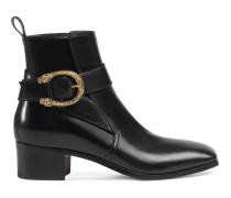 Stiefel aus Leder mit Schnalle