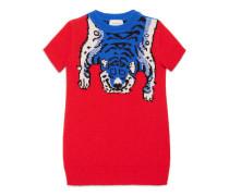 Kinder Kleid aus Merinowolle mit Tiger