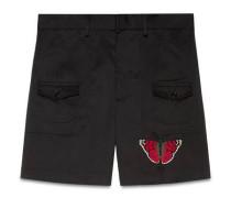 Shorts aus Baumwolle mit Schmetterling