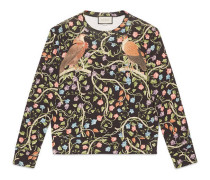 Pullover mit Raubvogel-Print