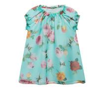 Baby Kleid mit Rosen- und Bienen-Print