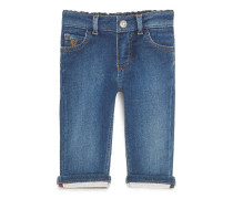 Hose aus dunkelblauem Jeans