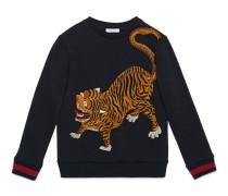 Kinder Pullover aus Baumwolle mit Tigermotiv