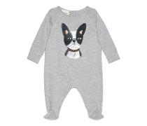 Baby Schlafanzug aus Baumwolle mit Hunde-Print