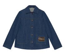 Jacke aus Denim mit Etikett