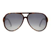 Sonnenbrille in Pilotenform aus gespritztem Azetat