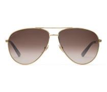 Sonnenbrille in Pilotenform mit Webstreifen