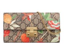 Padlock lange Brieftasche mit Gucci Tian-Print