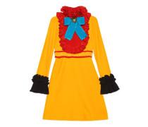 Kleid aus Samt mit Seidenrüschen