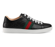 Ace Low-Top Sneaker aus Gucci Signature